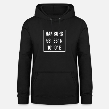 Latitude Hamburg knows with latitude and longitude - Women's Hoodie