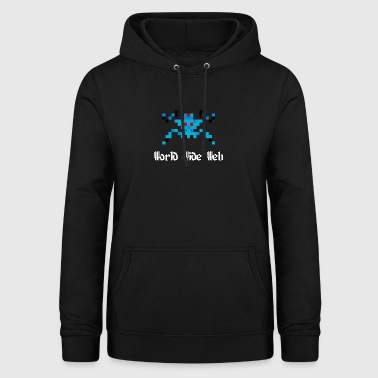 8-Bit Spinne (World Wide Web) - Frauen Hoodie