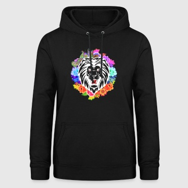 Lion head flowers - Women's Hoodie