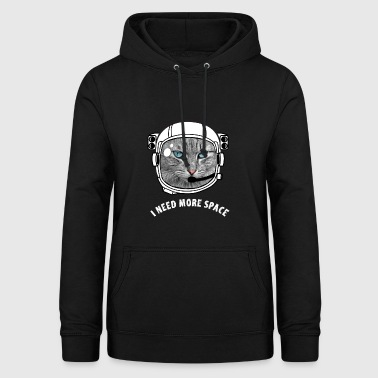 Astronaut cat space Katze all geek Kosmos Spruch - Frauen Hoodie