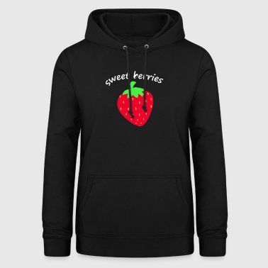 strawberry fruit fruit fruits - Women's Hoodie