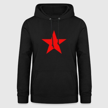 Red Star Star symbol star festival funny gift - Women's Hoodie