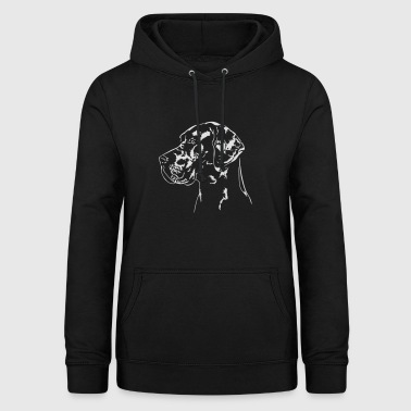 Deutsche Dogge GERMAN DOGGE Portrait Wilsigns - Women's Hoodie