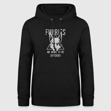 Furries We Want To Be Different Furry Cosplay - Women's Hoodie