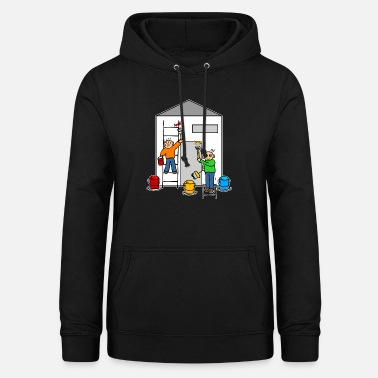 Painter or house painter paint a house - Women's Hoodie