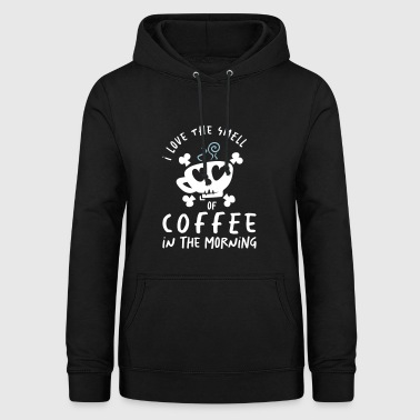 I Love the Smell of Coffee in the Morning - kaffee - Frauen Hoodie