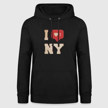 I Love New York - Felpa con cappuccio da donna
