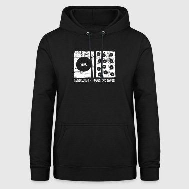 Society - then and now - Women's Hoodie