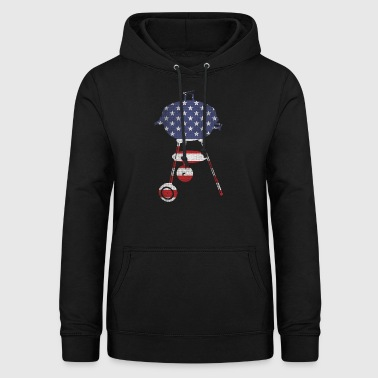 BBQ stars and stripes - Frauen Hoodie