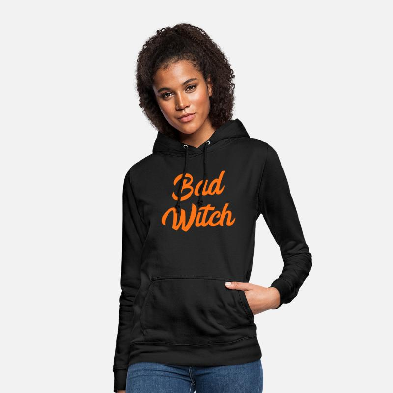 Hexerei Pullover & Hoodies - Bad Witch Böse Hexe Halloween Design - Frauen Hoodie Schwarz