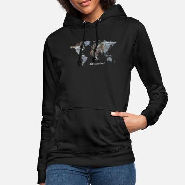 Map World Map - Let's explore! - Women's Hoodie