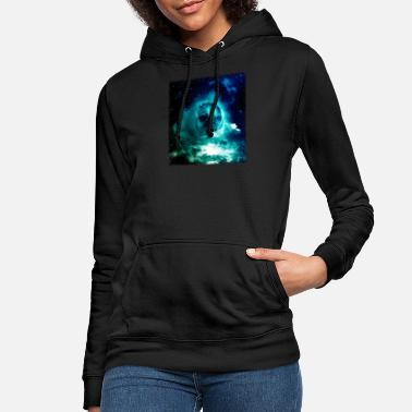 Sciencefiction Pug im Raum-Hemd Mops-Astronaut-Galaxie Trippy Sciencefiction Tshirt - Frauen Hoodie