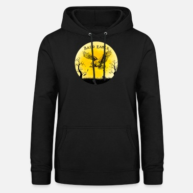 Bald Eagle Bald Eagle Halloween Vintage Retro Moon - Women's Hoodie