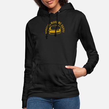Burger Burgers make me happy - Frauen Hoodie