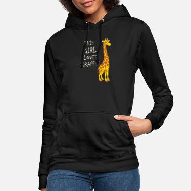 Giraffe Giraffe - This Girl Loves Giraffes - Frauen Hoodie
