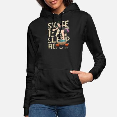 Skater Skater Girl - Skate Eat Repeat Sleep - Sweat à capuche Femme