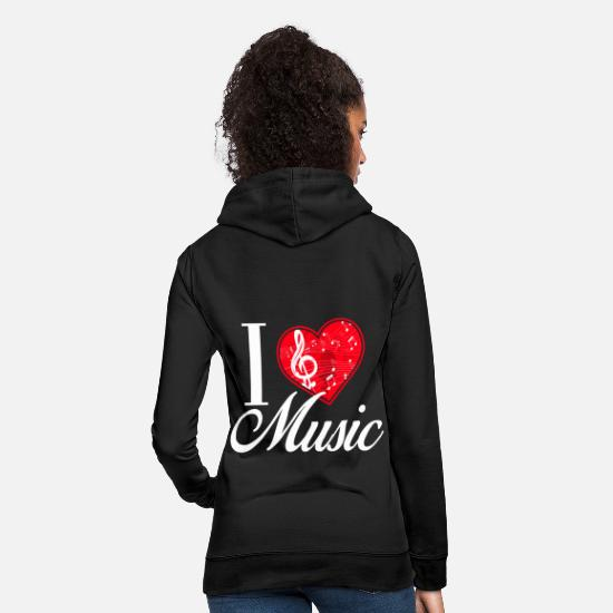 Love Hoodies & Sweatshirts - I Love Music / Music - Women's Hoodie black