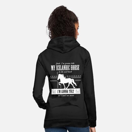 Tolt Hoodies & Sweatshirts - Old Town Tölt - Women's Hoodie black