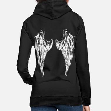 Angelwings angelwings angels angel Angel Devil 2 rinato - Felpa con cappuccio donna