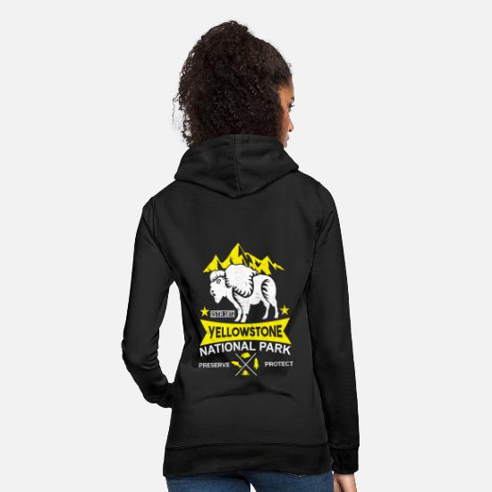 Gift Idea Hoodies & Sweatshirts - YellowStone National Park Bison Animal Protection T Shirt - Women's Hoodie black