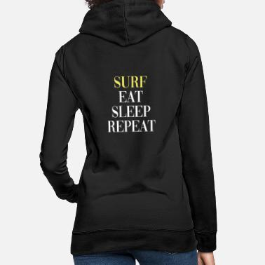 Bali Surf Eat Sleep Repeat - Surfer Design - Sweat à capuche Femme