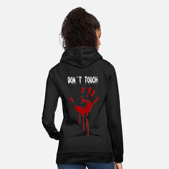 Sayings Hoodies & Sweatshirts - Don't touch - Women's Hoodie black