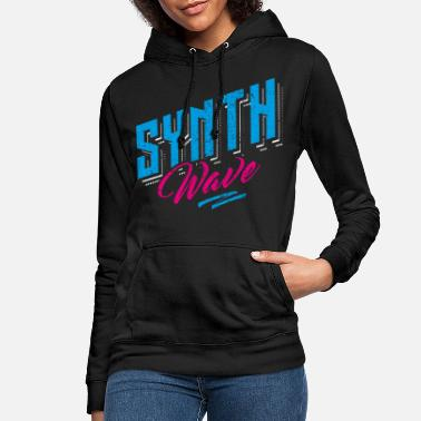 Synthwave Synthwave Retro Vintage Neon Cyber Lo-Fi - Frauen Hoodie