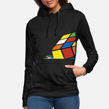 Nörd Rubik's Cube Melted Colourful Puddle - Hoodie dam