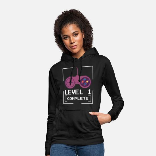 Game Over Pullover & Hoodies - Level 1 complete - Gamer - Frauen Hoodie Schwarz