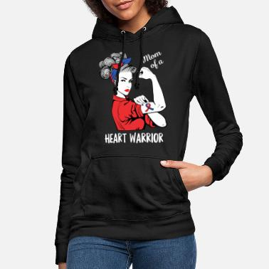 Bypass Mom Of A Heart Warrior CHD Awareness Heart Bypass - Bluza damska z kapturem