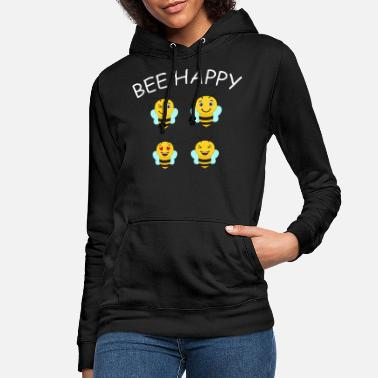 Bee Happy Cute Bee For Kids For Women For Men Be H - Women's Hoodie