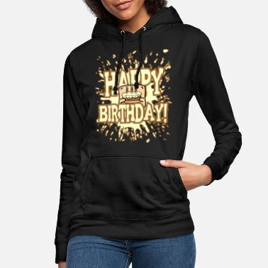 Little Creatures Funny little creature - brings birthday cake - Women's Hoodie