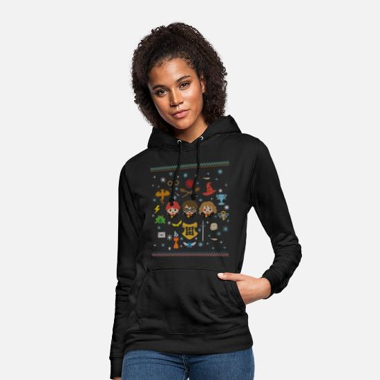 Christmas Pullover & Hoodies - Harry Potter Ugly Christmas Chibi Design - Frauen Hoodie Schwarz