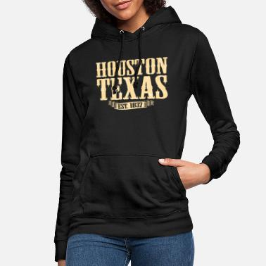Texas Houston Texas - Hættetrøje dame