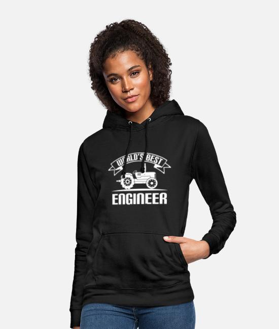 Education Hoodies & Sweatshirts - World's best engineer - Women's Hoodie black