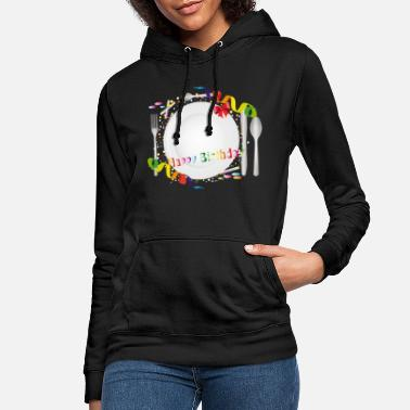 Birthday Decoration Birthday table setting with colorful decoration - Women's Hoodie