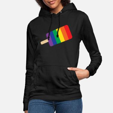Rain Rain bow ice cream popsicle - Women's Hoodie