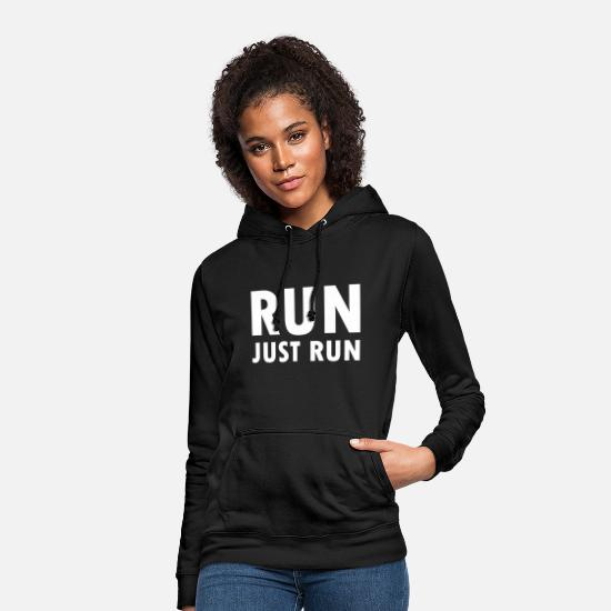 Running Sweat-shirts - RUN - Sweat à capuche Femme noir