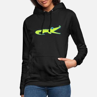 Crocodile Crocodile Kids Kids T-Shirt by DRUCKPUNK - Women's Hoodie