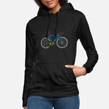 Glass Underwear Bicycle anatomy for bike and cycling lovers - Women's Hoodie