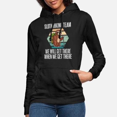 Hiking Sloth hiking team - Women's Hoodie