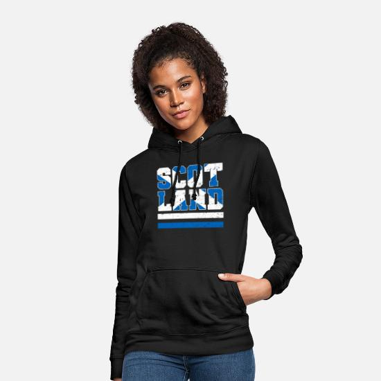 Proud Hoodies & Sweatshirts - Scotland flag - Women's Hoodie black