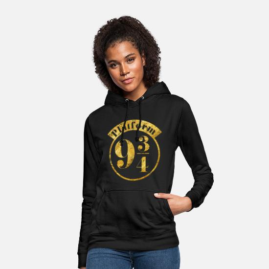 Harry Pullover & Hoodies - Harry Potter Platform 9 3/4 Gold - Frauen Hoodie Schwarz