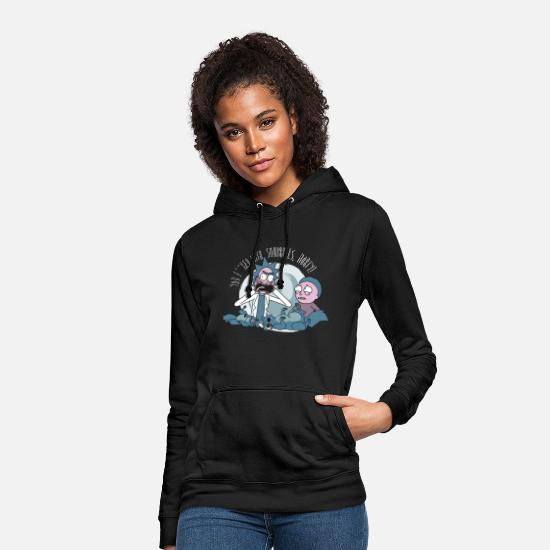 Morty Pullover & Hoodies - Rick And Morty You F**ked With Squirrels - Frauen Hoodie Schwarz