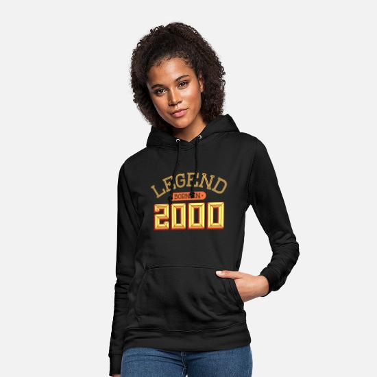 Date Hoodies & Sweatshirts - Legend Born 2000 Year of Birth Birthday Year - Women's Hoodie black