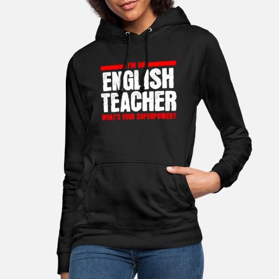 Prof d'anglais prof d'anglais Sweat à capuche Femme