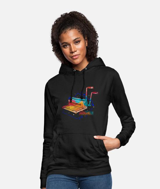 Read Hoodies & Sweatshirts - Bookbinder polygon gift - Women's Hoodie black