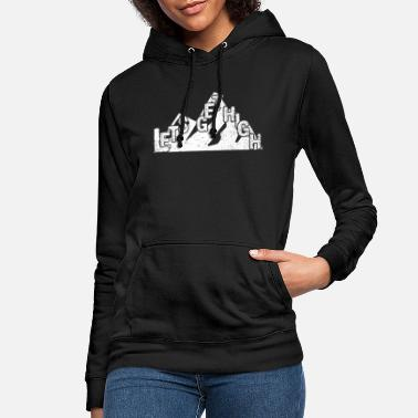 Hiking hike hiking group mountains climbing forest - Women's Hoodie