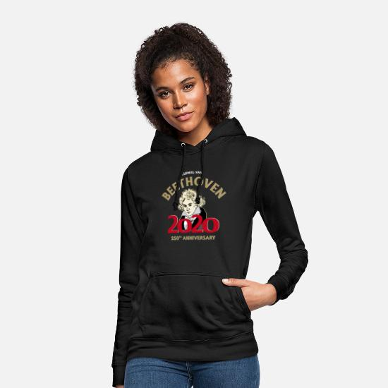 Composer Hoodies & Sweatshirts - works - Beethoven 2020 - 250 years - black - Women's Hoodie black