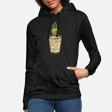 Dricka Cocktail Pina Colada Ananas Diving Glass Diving - Hoodie dam